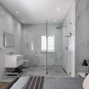 Chad Le Clos open plan bathroom
