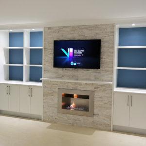 built-in tv unit