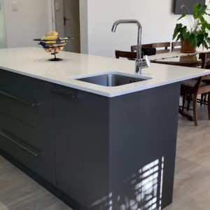 Matt grey kitchen