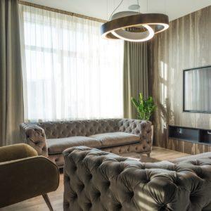 Sunken lounge decorations